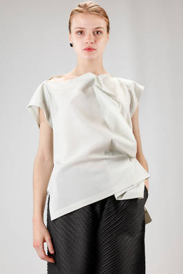 132 5. Issey Miyake - asymmetric rectangle top in light recycled polyester cloth  - 47