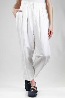 soft trousers in light linen and cotton cloth  - 333