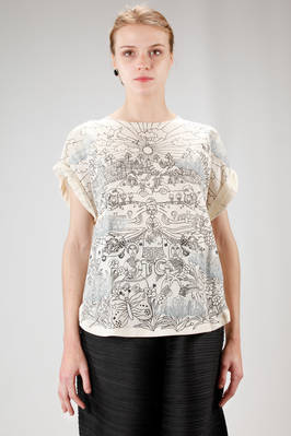 hip-length t-shirt in cotton jersey with 'Havana' drawing  - 333