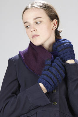 two-tone knitted alpaca wool mittens  - 195