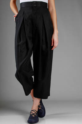 wide trousers in linen, cupro and cotton satin  - 97