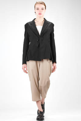 hip length jacket in cotton canvas and wrinkled rayon  - 97