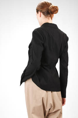 hip length jacket in cotton canvas and wrinkled rayon - Y'S Yohji Yamamoto