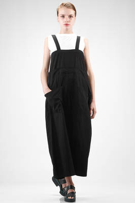 wide dungaree trousers in soft cotton cloth  - 97