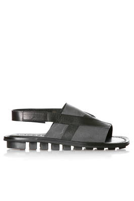 CLAD sandal in soft cowhide leather with tone on tone brushstrokes  - 51