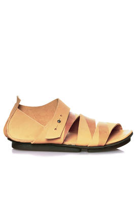 GAFFA sandal in soft washed cowhide leather and concave rubber outsole  - 51
