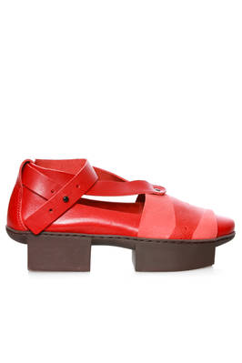 CHECK ballerina shoe in soft cowhide leather and 'Japanese' rubber outsole  - 51