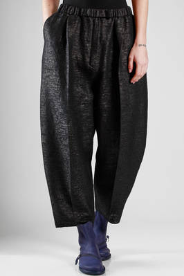 oversized trousers in cotton, polyurethane and polyamide with a soft raffia effect  - 227