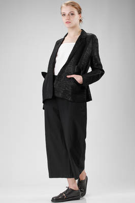 hip-length jacket in cotton, polyurethane and polyamide with a soft raffia effect - BOBOUTIC