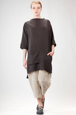 knee length tunic in linen cloth and washed silk  - 293
