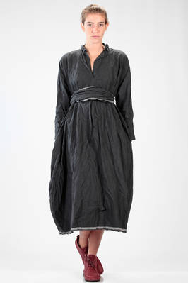 long and wide dress in washed and wrinkled 'citizen' cotton  - 195