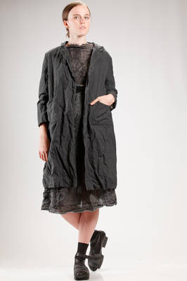 light coat in citizen cotton, lined in woolen gauze  - 195