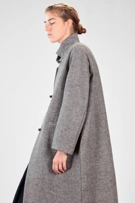 DANIELA GREGIS - Long Coat In Wool Tween With The Collar Lined In Cashmere  :: Ivo Milan