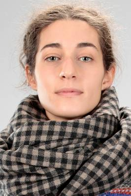 wide scarf in cashmere vichy gauze  - 195