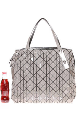 shopper shoulder square bag made of small and shiny triangular ROW GLOSS plates  - 237