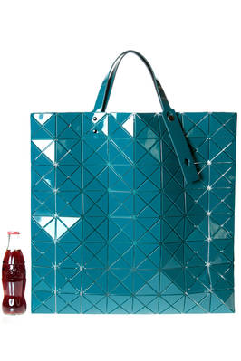 big square shopper shoulder bag made of big and polished triangular  LUCENT PRO ONE-TONE plates  - 237