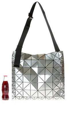 crossbody bag of big dimensions made of polished triangular  RATIO plates of two different dimensions  - 237