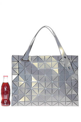 rectangular shoulder bag made of triangular CARTON T METALLIC  plates  - 237
