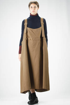 oversized long skirt dungarees in soft and worm ribbed cotton with a velvet effect  - 97