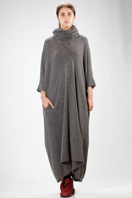 wide and long dress in really soft viscose, acrylic, wool and nylon knit  - 97