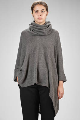 wide and long sweater in really soft viscose, acrylic, wool and nylon knit  - 97