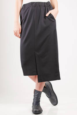 calf length pencil skirt in polyester and triacetate canvas  - 121