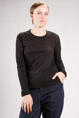 hip length t-shirt in very light  giapponese 'supima' cotton jersey  - 121