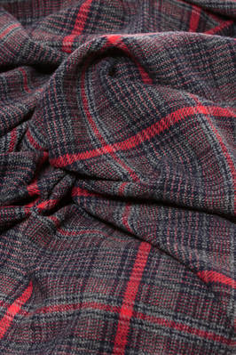 long and wide scarf in tight tartan of soft and light wool  - 121