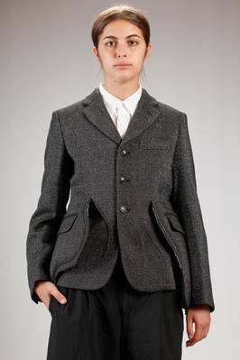 male jacket in wool, nylon and polyester lurex  - 48