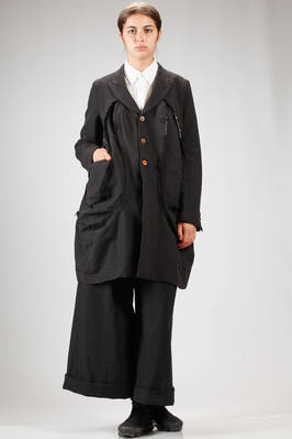 long jacket in treated polyester techno canvas  - 48