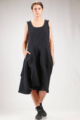 longuette dress in treated polyester techno canvas  - 48