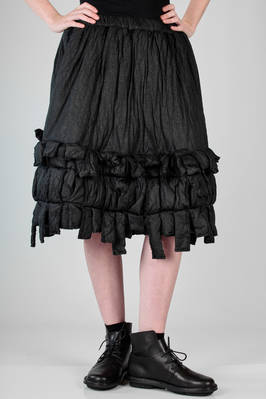 calf length skirt in padded nylon canvas with scratched skin effect - COMME DES GARÇONS