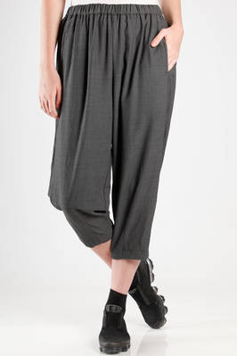wide trousers in male pinstripe draped fabric of washed wool  - 157