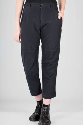 slim fit trousers in techno fabric of treated polyester  - 157