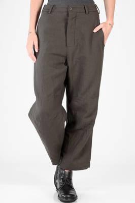 wide trousers in cotton canvas and washed wool  - 161