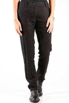 slim fit trousers in really soft wintery linen cloth, boiled and wrinkled  - 161