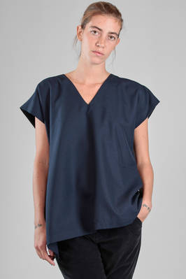 132 5. Issey Miyake – hip length top in bicolor wool and polyester canvas  - 47