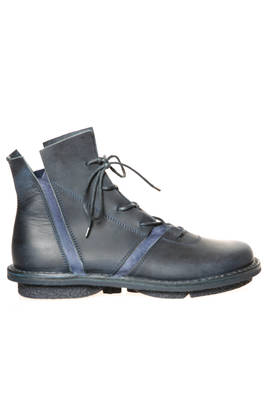 QUAKE ankle boot in matt cowhide leather and inserts in moufflone leather  - 51