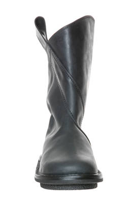 EXIT boot in matt cowhide leather with nabuk effect treatment, lined in synthetic fur - TRIPPEN