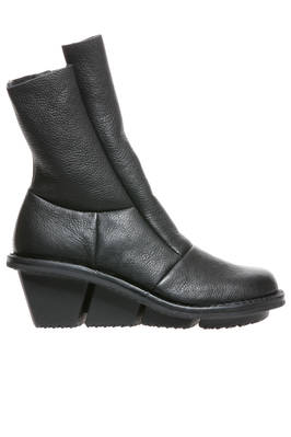ROCK ankle boot with heels in soft cowhide leather and felt lining  - 51