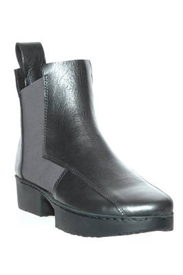 CRUST ankle boot in metallic cowhide leather - TRIPPEN