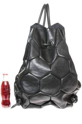 EXAGON back pack in smooth cowhide leather, lined and made of sewed hexagons  - 51