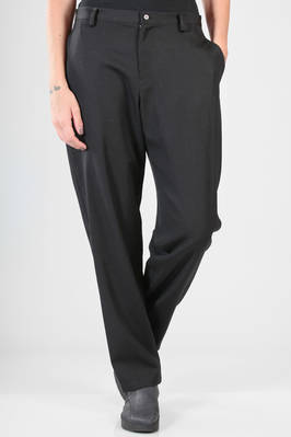 slim fit trousers in wool gabardine  - 73
