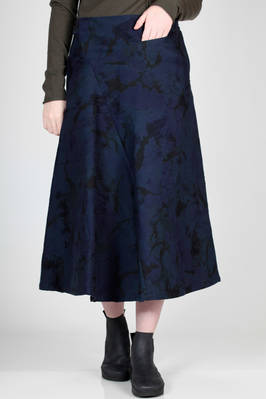 longuette skirt in tone on tone camouflage jacquard with old age effect  - 97