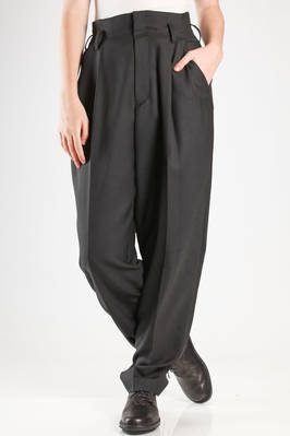 wide trousers in woolen gabardine and polyester  - 97