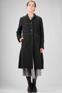 claf length coat in really soft jute alike cloth of wool, cotton, linen, nylon and still  - 336