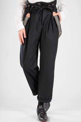 wide trousers in soft cloth of wool, nylon and polyurethane  - 336