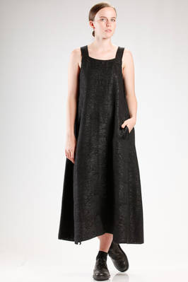 wide and flared dungarees dress in really soft wool, polyamide, polyurethane and cotton knitting  - 227