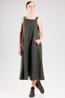 wide and flared dress dungarees in really soft wool, polyamide, polyurethane and cotton knitting  - 227