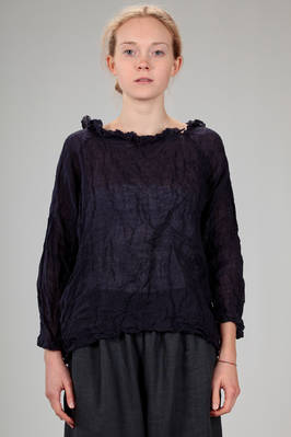 wide shirt in washed linen gauze  - 195